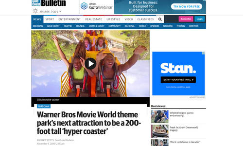 Gold Coast Bulletin demonstrates little knowledge of hypercoasters
