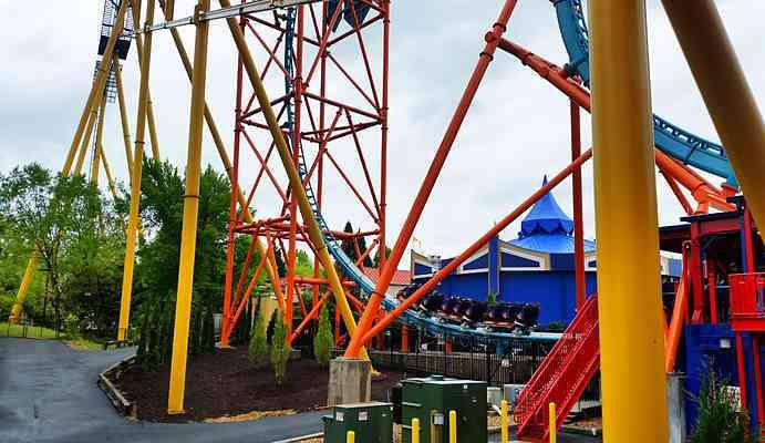 Tempesto Roller Coaster Busch Gardens Williamsburg Parkz Theme Parks